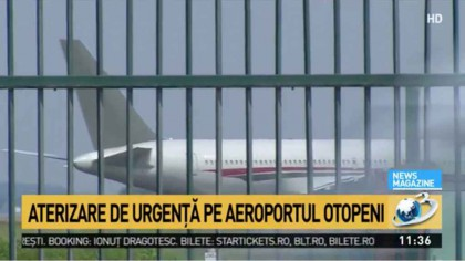 PANICĂ PE OTOPENI! Un avion ar fi luat FOC în zbor. La bord se aflau peste 180 de pasageri