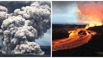 Vulcanul Kilauea din Hawaii a erupt. Ce a inceput sa cada din cer la scurt timp. Localnicii sunt uluiti!