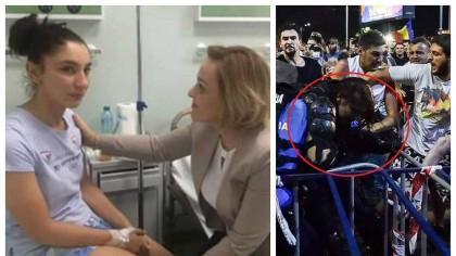 Abia acum s-a aflat: Stefania, jandarmerita batuta de huligani, a fost sedata in spital! Care este motivul
