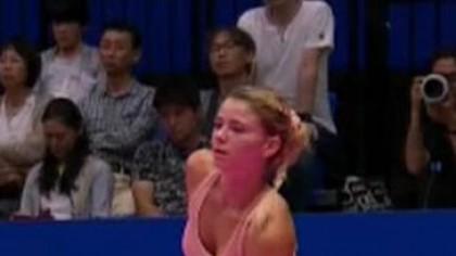 Aparitie BOMBA la turneul WTA! O tenismena a aparut cu fundul la vedere, lasandu-si fanii cu gura cascata