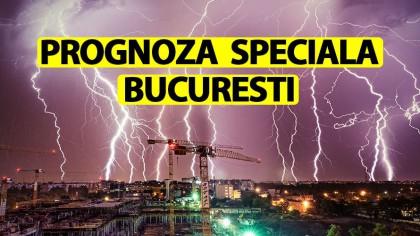 ANM a schimbat prognoza! Avertizare specială pentru București. Fenomene meteo periculoase