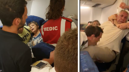 VIDEO! Scandal MONSTRU intr-un avion Tarom, la Otopeni! A fost scos in CATUSE!