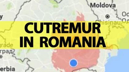 A fost cutremur în România în urmă cu câteva minute. Alerta emisă de INFP