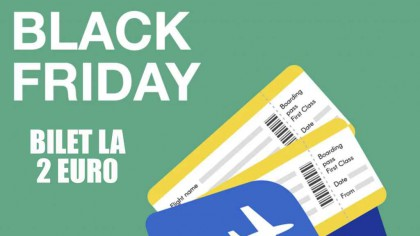 Black Friday la bilete de avion, prețuri de la 2 euro