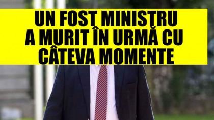 Un ministru a murit în urmă cu câteva momente! ȘOC în lumea politică