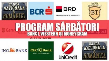 Program bănci  24 ianuarie BCR, Transilvania, BRD, ING, Unicredit, CEC, Alpha, Garanti, Raiffeisen