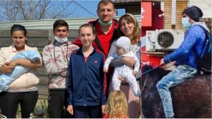 VESTE BUNĂ! Sergiu, tăticul călăreț, are de astăzi casa lui - Primele imagini cu familia la casa nouă. Cum s-a produs MINUNEA